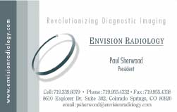envision radiology trifold brochure and business card